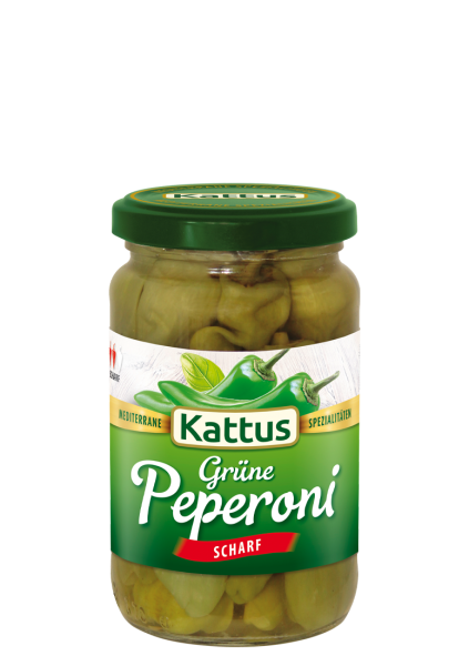 Grüne Peperoni in Lake, scharf