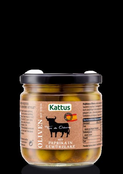 Toro Oliven mit Paprika in Gewürzlake